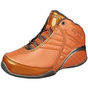 AND 1 ROCKET 3.0 Mid Basketball Shoe (Little Kid/Big Kid), Burnt Orange/Burnt Orange/Asphalt, 7 M US Big Kid
