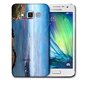 Snoogg Red Sealing Printed Protective Phone Back Case Cover For Samsung Galaxy A3