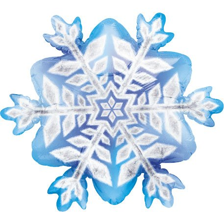 Snowflake Prismatic Mini Shape Balloon