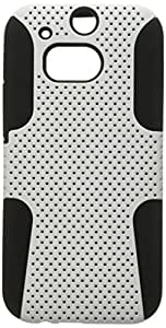 MyBat Astronoot Phone Protector Cover for HTC One M8 - Retail Packaging - White/Black