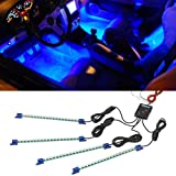 4pc. Blue LED Interior Underdash Lighting Kit by LedGlow