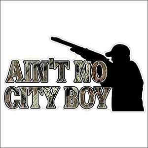 Amazon.com: Ain't No City BoyFunny Hunting Decal Deer Car Truck