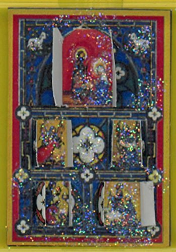Dollhouse Miniature Advent Calendar Stained Glass Window by Jacqueline's Miniatures [並行輸入品]