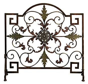 Beautiful Metal Fireplace Screen by Exclusive Decor