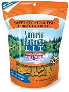 Natural Balance Sweet Potato and Fish Formula Dog Treats, 8-Ounce Bag