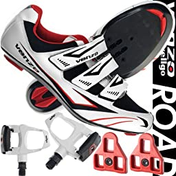 Venzo Road Bike For Shimano SPD SL Look Cycling Bicycle Shoes & Pedals 46