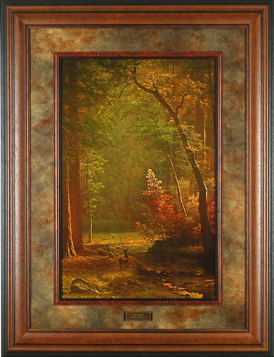 Dogwood Albert Bierstadt 33x43 Gallery Quality Framed Art Print Scenic Landscape Picture Painting