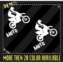 Set of 2 - Dirt Bike Moto MX Vinyl Decal Sticker / 6