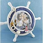 Nautical Steering Wheel 3.6 Round Desk Stand Picture Frame