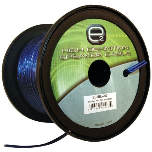 Scosche Es3Bl-200 3Mm Speaker Wire (200 Feet, Blue)