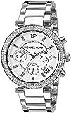 Michael Kors Womens Parker Silver-Tone Watch MK5353