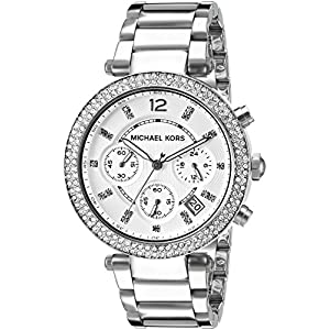 Michael Kors Women's MK5353 Parker Analog Display Analog Quartz Silver Watch