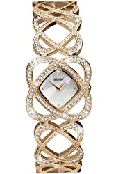 Ladies Seksy by Sekonda Crystal Hearts Rose Gold Plated Stone Set Watch 4229
