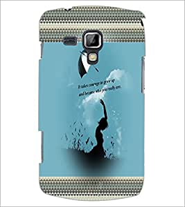 PrintDhaba Quote D-2471 Back Case Cover for SAMSUNG GALAXY S DUOS S7562 (Multi-Coloured)