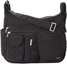 Lug Double Dutch Cross-Body Messenger, Midnight Black, One Size
