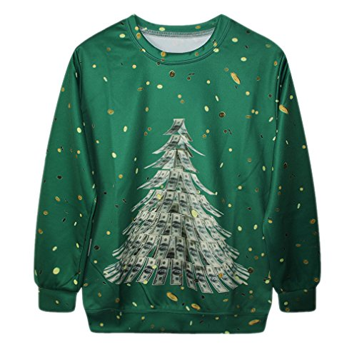Womens Christmas Dollar Sweatshirt