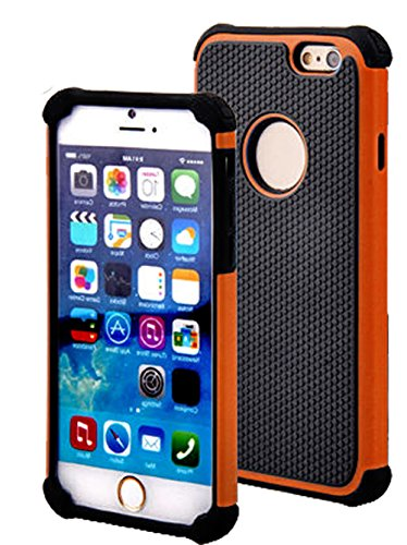 "Mylife Carrot Orange {Shockproof Design} 2 Layer Hybrid Case For The New Iphone 6 (6G) 6Th Generation Phone By Apple, 4.7"" Screen Version (Single External Fitted Hard Protector Shell + Full Body Internal Silicone Easy-Grip Bumper Gel Protection) front-329771"