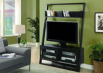 Monarch Ladder TV Unit with 2 Sliding Doors, 48-Inch, Cappuccino
