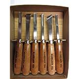 6pc Large Wood Carving Gunsmithing Gouges Tool Set 120 Ramelson