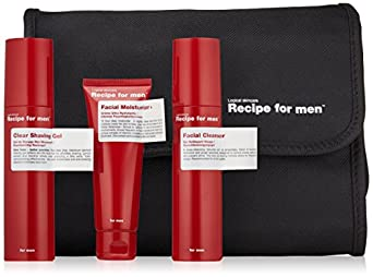 Recipe for Men Three Way Facial Skin Care Set, Red