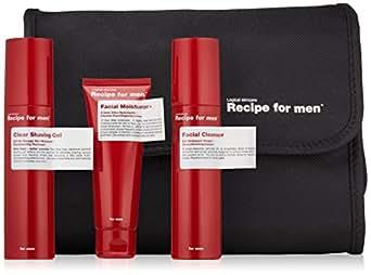Recipe for Men Three Way Facial Skin Care Set, Red