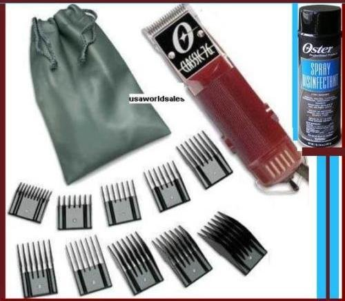 Oster Classic 76 Hair Clipper with 10 piece Comb guide set and Spray Disinfectant Package Brand New (Oster Clipper Spray compare prices)