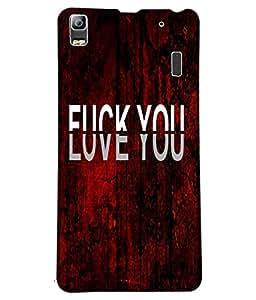 Fuson Love Red Pattern Back Case Cover for LENOVO K3 NOTE - D3703
