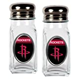 NBA Houston Rockets Salt and Pepper Shaker Set with Crystal Coat
