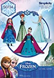 Simplicity Creative Patterns S0734 Disneys Frozen Doll Pattern Clothes, 11-1/2-Inch
