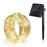 Ankway solar lichterkette led lichterketten mit Kupferdraht 100 LEDs wasserdicht lichterkette außen 39ft -- Warmweiß