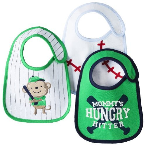 Carter'S Bib Set ' Mommy'S Hungry Hitter ' 3 Bibs Baseball front-60710
