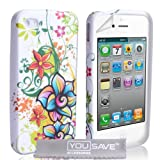 iPhone 4 / 4S Floral Rainbow Silicone Caseby Yousave Accessories
