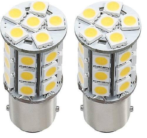 2 X Green Value Led 25001V-02 1156/1141 Base Tower Led Replacement Bulb 250 Lum 8-30V Warm White