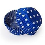 Dress My Cupcake Standard Blue Polka Dot Cupcake Liners BULK - 500 Liners - Blue Liners Cupcakes Picks