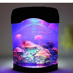Novelty led artificial jellyfish aquarium lighting fish for Fish tank night light