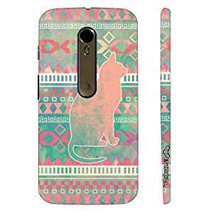 Motorola Moto X Style Cat Aztec designer mobile hard shell case by Enthopia