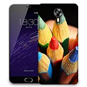 Snoogg Crayoning Designer Protective Back Case Cover For Meizu M2