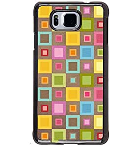 Printvisa Multicolour Check Pattern Back Case Cover for Samsung Galaxy Alpha G850
