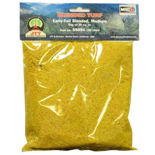 JTT Scenery Products Blended Turf, Early-Fall Blended, Medium/30 Cubic Inch - 1