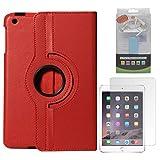 DMG Full 360 Rotating Cover Case For Apple Ipad Mini 3 (Red) + 2600 MAh PowerBank + Matte Screen