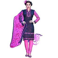 Shelina Women Nevy Blue Cotton Printed Salwar Suit