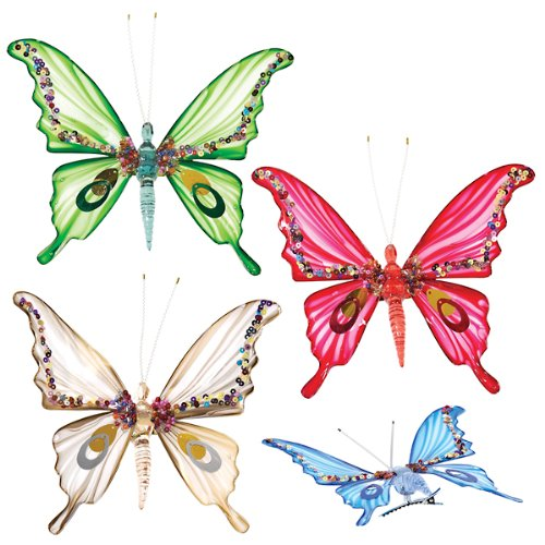 7 Inch Plastic Decorative Butterfly