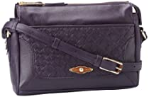 Hot Sale Elliott Lucca Intreccio Demi Shoulder Bag,Boysenberry,One Size