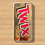 C-42 - Clear / Transparent - Twix Chocolate Bar - iPhone 5C Hard Plastic Case - Cool Funny Retro Quirky - Xmas / Birthday Gift