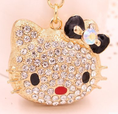 Black color upscale fashion creative new key fob key ring metal stick drill small bulk keychain super cat head (Drill Keychain compare prices)