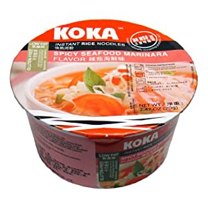 Koka Spicy Seafood Marinara Rice Noodles Bowl 70-grams Pack Of 12 from KOKA