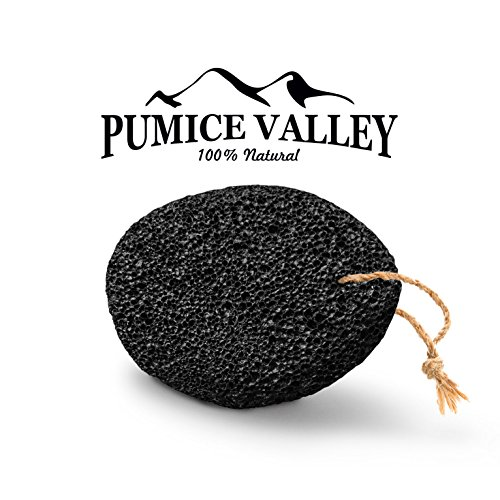Pumice Valley - Natural Lava Pumice Stone Black - Callus Remover for Feet Heels and Palm - Pedicure Exfoliation Tool - Remover Toxins - Corn Remover for Foot - Dry Dead Skin Scrub - Health Foot Care (Foot Corns compare prices)
