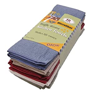 Eurow Microfiber Waffle Weave Kitchen Towels (10-pack) by Eurow Microfiber