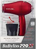 Babyliss Tourmaline Mini Folding Travel 1000 Watt Hair Dryer - Red [Misc.]