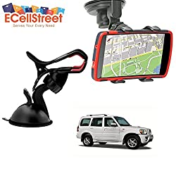 ECellStreet TM Mobile phone soft tube mount holder with suction cup - Multi-angle 360° Degree Rotating Clip Windshield Dashboard Smartphone Car Mount Holder Mahindra Halo
